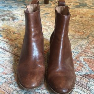 Madewell Leather Chelsea Ankle Booties